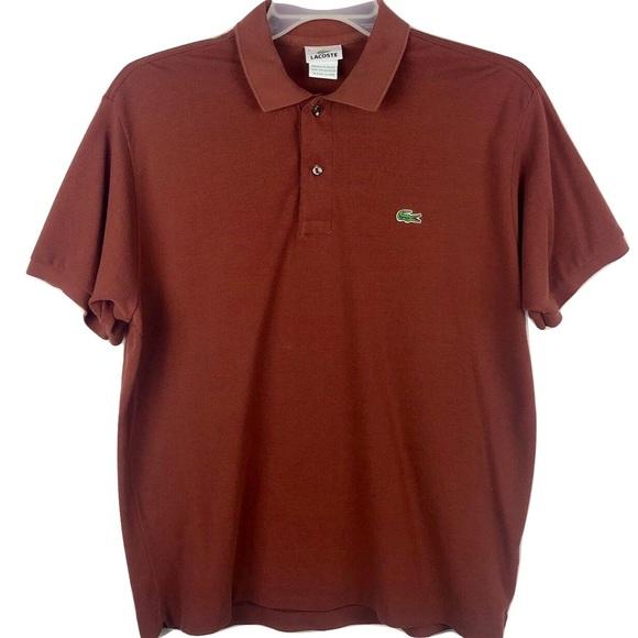 1b08300c6ab71 Lacoste Polo Shirt Crocodile Logo Orange 6 Large
